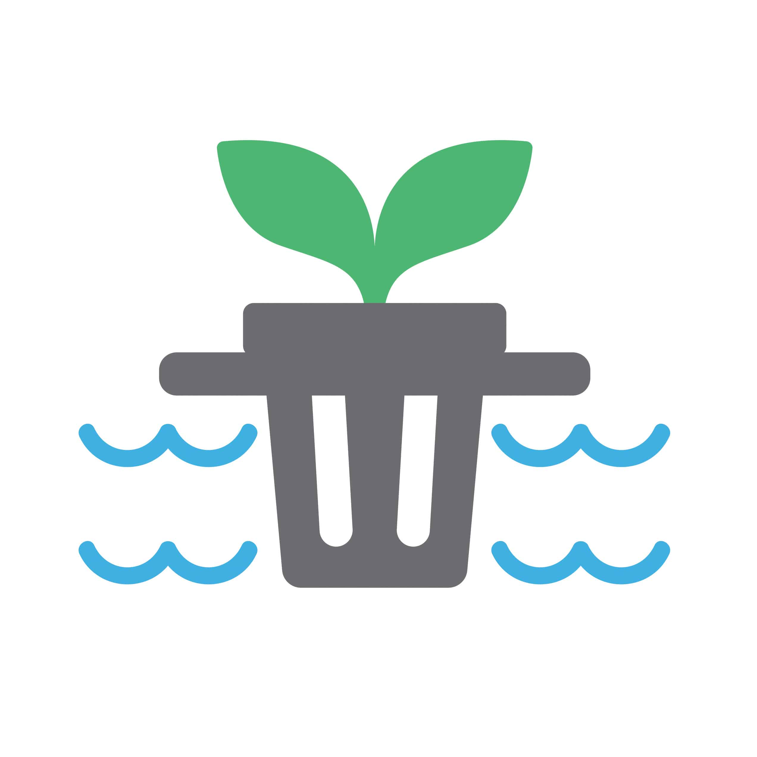 flood and drain icon